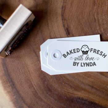 Baked Fresh With Love Customizable Stamps