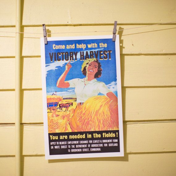 Come and Help with the Victory Harvest Poster