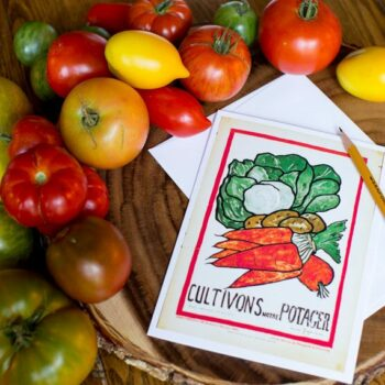 Cultivons Notre Potager Greeting Card