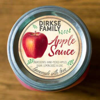 Custom Apple Sauce Label