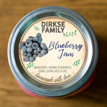 Custom Blueberry Jam Labels