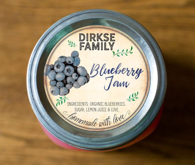Well-liked Custom Blueberry Jam, Jelly Labels - Vintage Style – Authentic  VS23