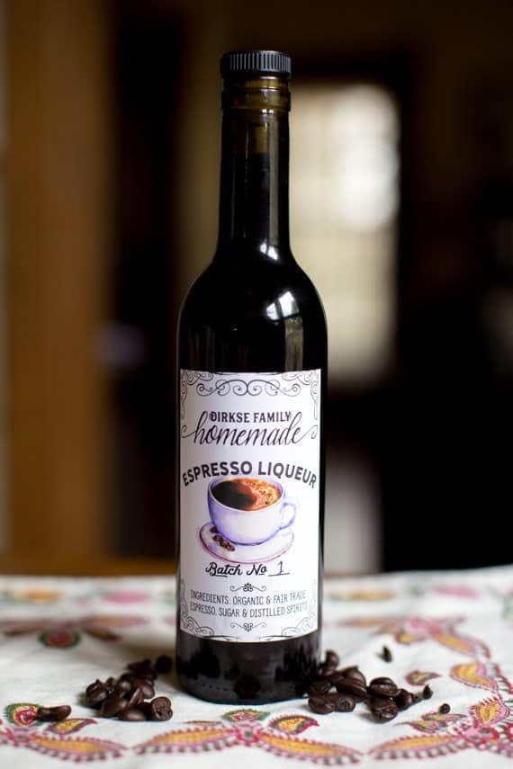 Custom Coffee Liqueur Labels - Espresso Liqueur