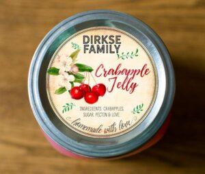 Custom Crabapple Jelly Labels