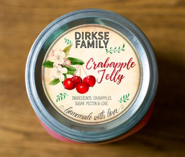 Custom Crabapple Jelly Labels