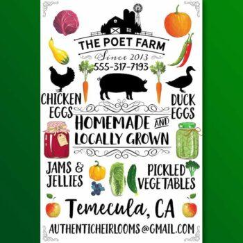 Custom Farm Poster