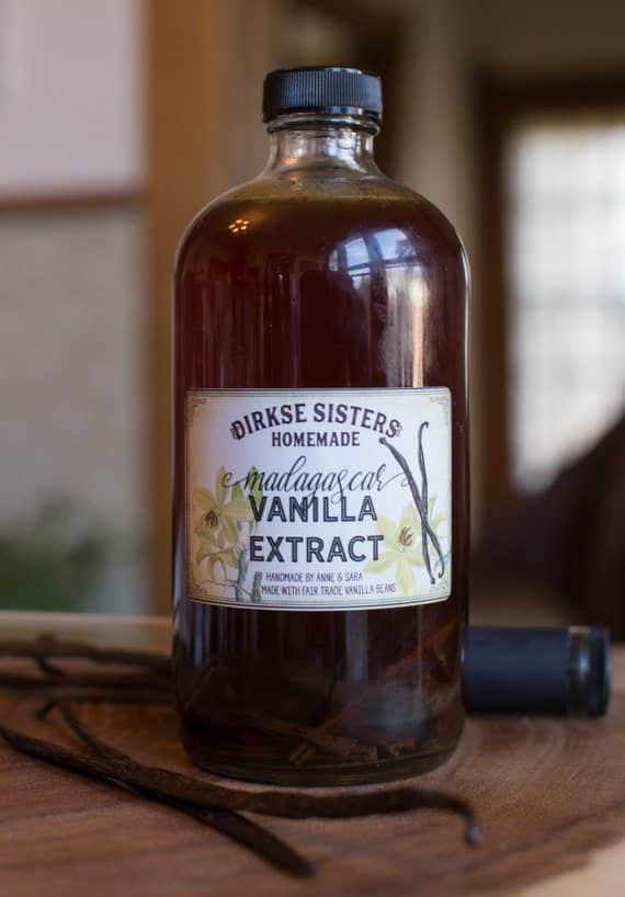 custom homemade vanilla extract labels