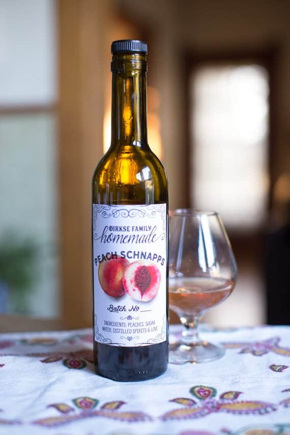 Custom Peach Brandy Labels, Peach Schnapps