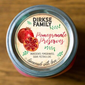 Custom Pomegranate Jelly Labels