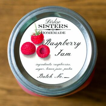 Custom Raspberry Jam Labels