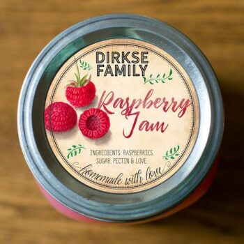 Customized Labels for Raspberry Jam