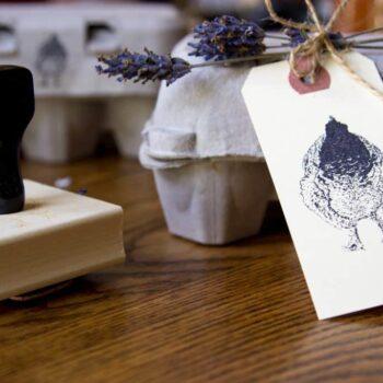 Fluffy Butt Stamp – Hand Drawn