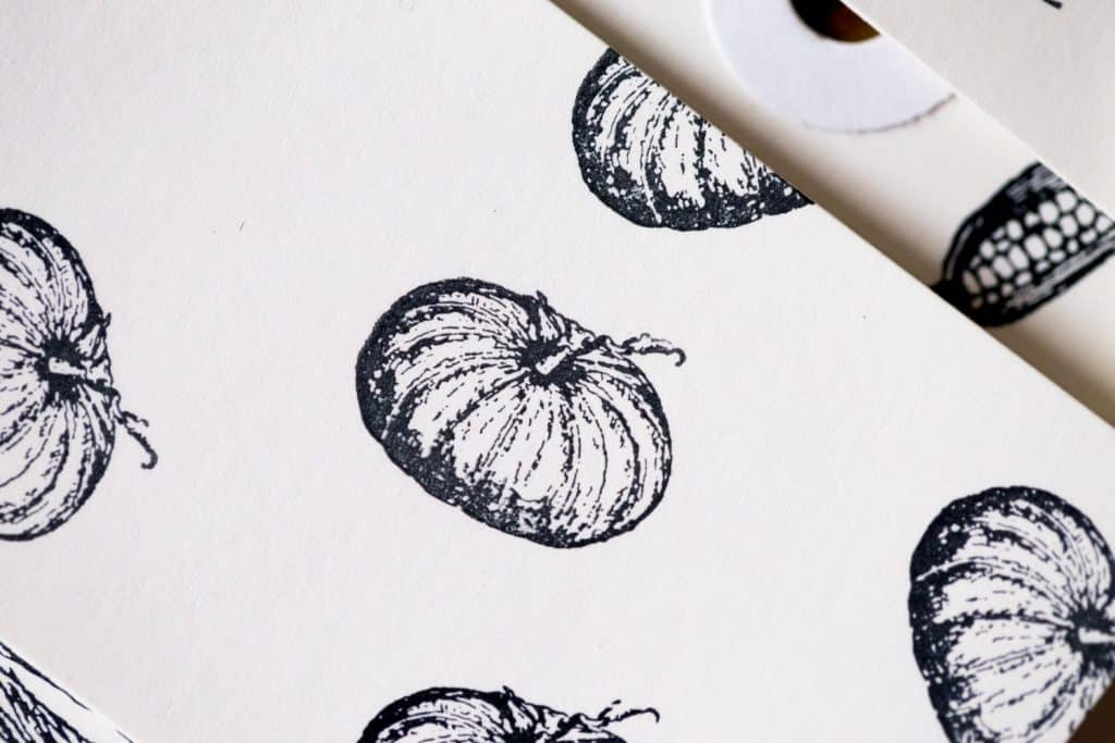 french pumpkin stamp