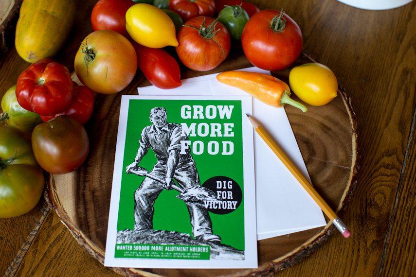 Grow More Food Greeting Card