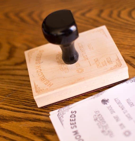 Heirloom Seed Packet Stamp