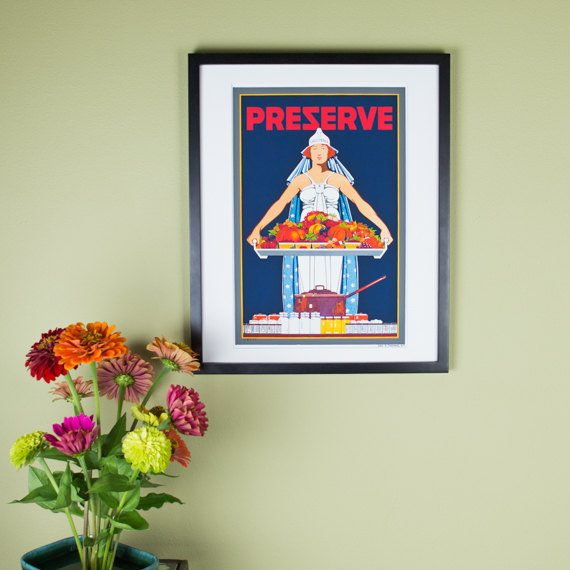 Preserve Poster - Vintage Canning Poster by Carter Housh