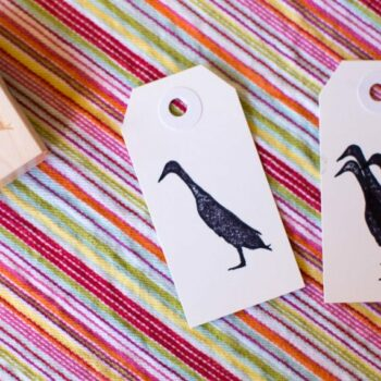 Runner Duck Stamp - Indian Runner Duck Silhouette