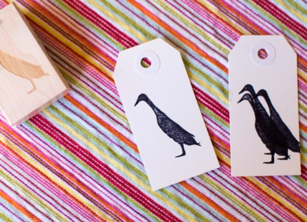 Runner Duck Stamp - Indian Runner Duck Silhouette
