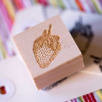 Strawberry Stamp - 1 inch