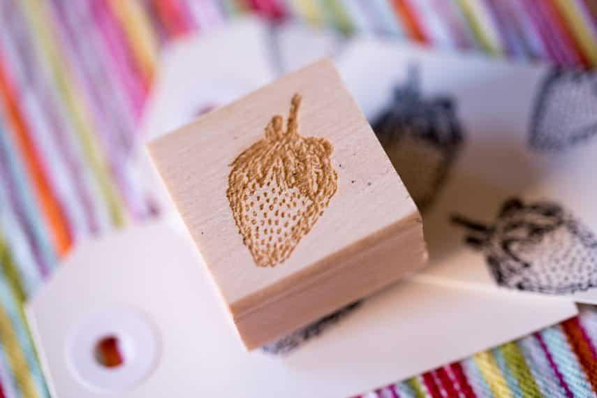 Strawberry Stamp - 1 inch
