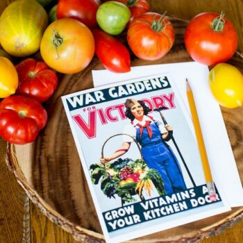 War Gardens for Victory Greeting Card