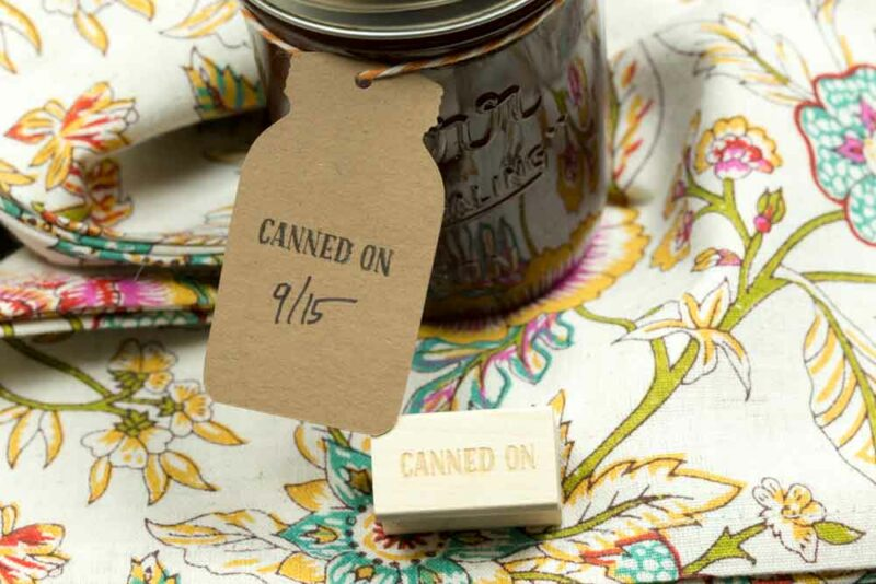 Canned On Mini Stamp for Home Canning