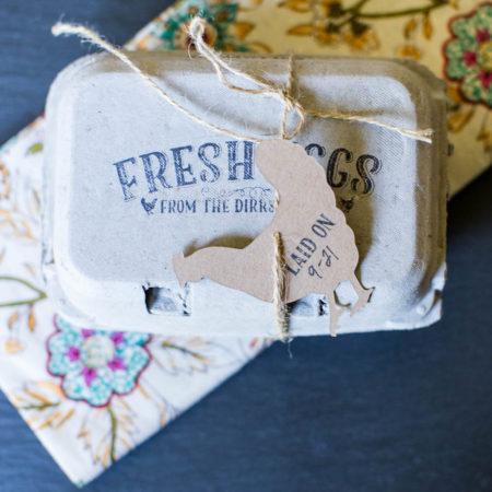 Chicken Hang Tag Egg Carton Stamp