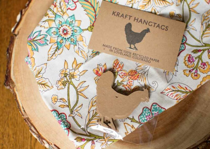 Chicken Hang Tags - Kraft Chicken Gift Tags