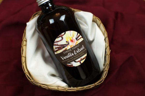 Custom Vanilla Extract Labels - Watercolor