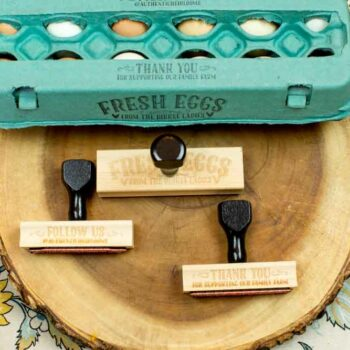 Customized Egg Carton Stamp Set
