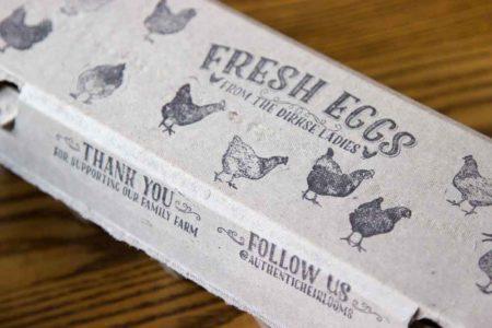 Egg Carton Stamp – Fresh Eggs