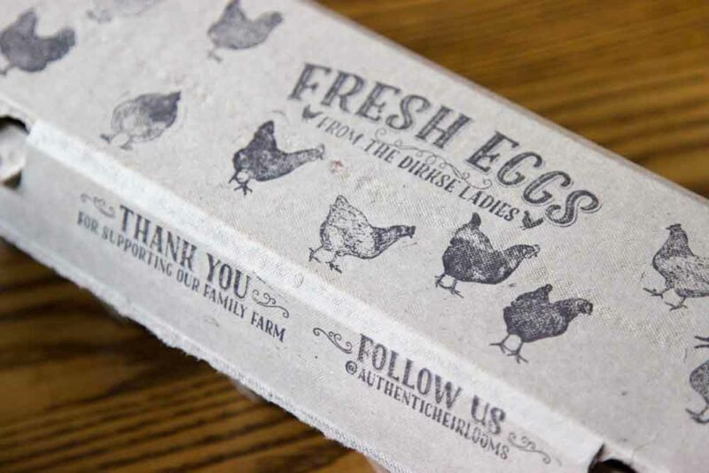 Egg Carton Stamp - Fresh Eggs