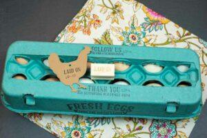 Egg Carton Stamp Laid On