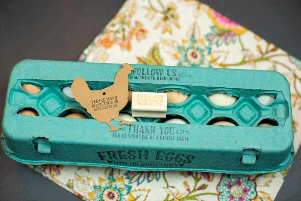Egg Carton Stamp Please Wash Before Using or Refrigerating