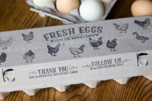 Egg Carton Stamps Heritage Breed Hens