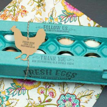 Fresh Eggs Backyard Hens Egg Carton Stamp