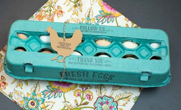 Fresh Eggs Backyard Hens Egg Carton Stamp