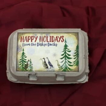 Happy Holidays Duck Egg Carton