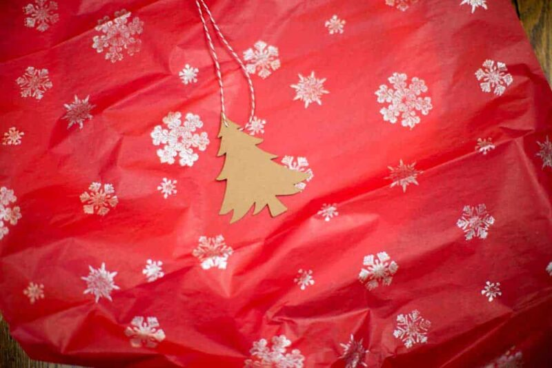 Kraft Christmas Tree Gift Tag