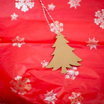 Kraft Christmas Tree Hang Tag