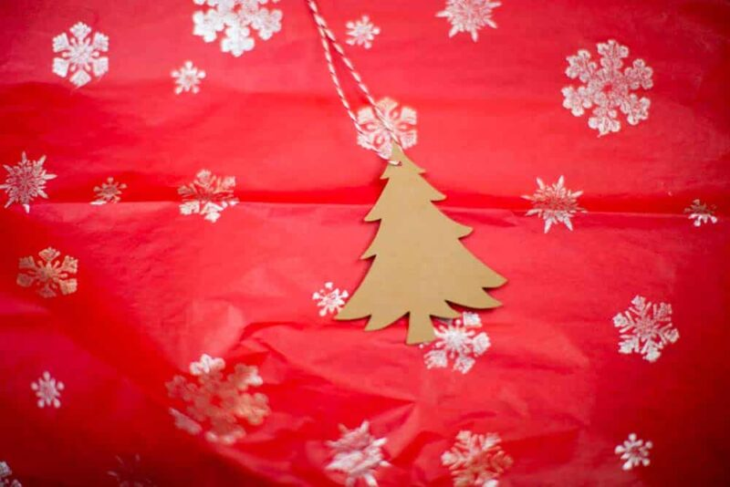 Kraft Christmas Tree Hang Tag