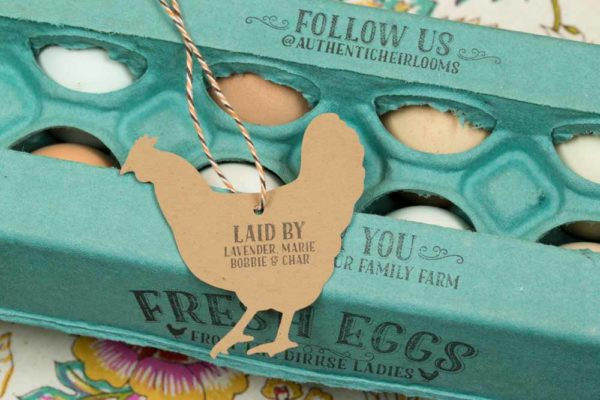 Laid By Stamp with Customizable Hen Names