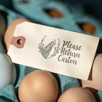 Please Return Carton Stamp - Chicken with Herbs - Hangtag