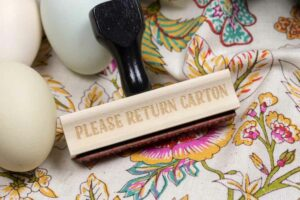 Please Return Carton Stamp – Egg Carton Stamp