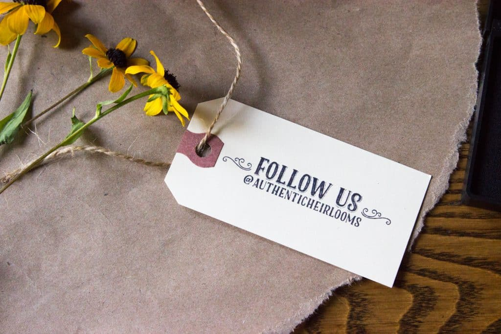 Social Media Follow Us Stamp