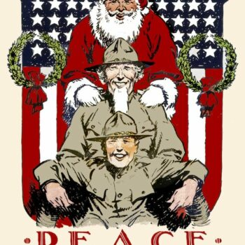 Vintage Christmas Greeting Card - A merry Christmas - Peace, Your Gift to the Nation