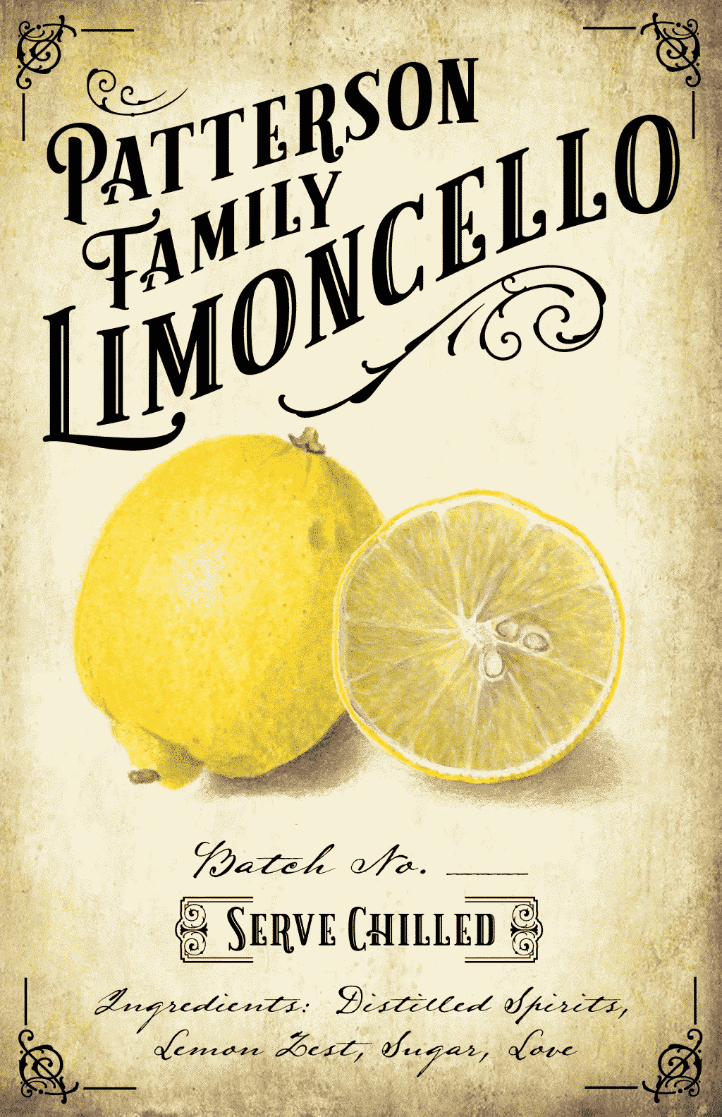 Free Limoncello Labels - Easy Craft Ideas
