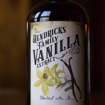 Customizable Vanilla Extract Label - Vintage Style