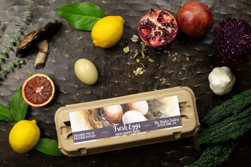 Watercolor Egg Carton Labels - Customizable - One Dozen