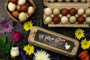 Wood Grain Egg Carton Labels - Customizable - One Dozen